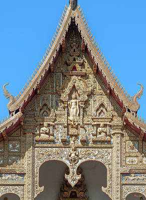 Photograph - Wat Kumpa Pradit Phra Wihan Gable Dthcm1660 by Gerry Gantt