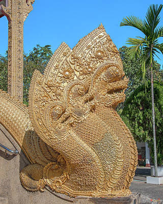Photograph - Wat Kumpa Pradit Phra Wihan Makara And Five-headed Naga Dthcm1666 by Gerry Gantt