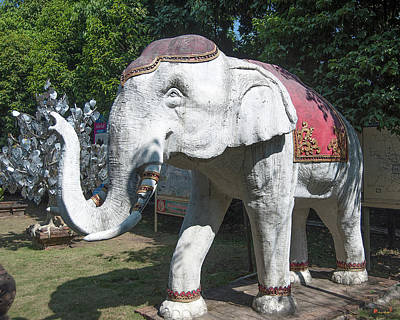 Photograph - Wat Lok Molee Guardian Elephant Dthcm2012 by Gerry Gantt