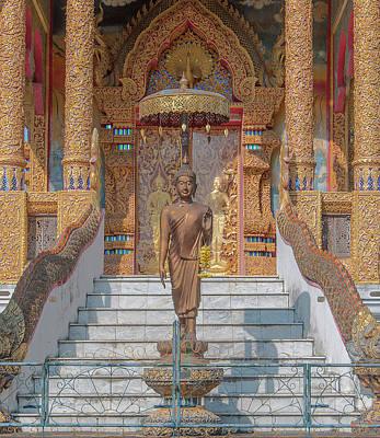 Photograph - Wat Mae Faek Luang Phra Ubosot Buddha Image Dthcm1894 by Gerry Gantt