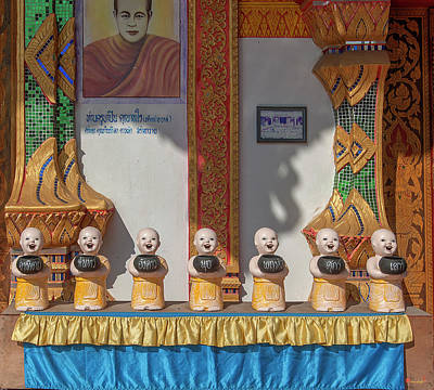 Photograph - Wat Mae Faek Luang Phra Wihan Daily Merit Bowls Dthcm1879 by Gerry Gantt