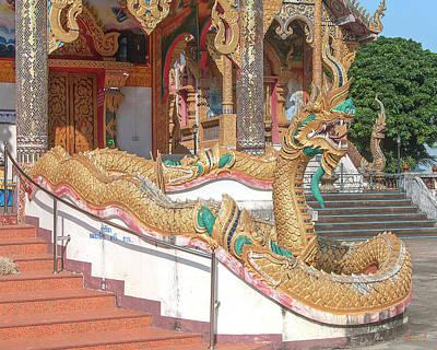 Photograph - Wat Mae Faek Luang Phra Wihan Makara And Naga Dthcm1882 by Gerry Gantt