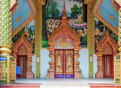 Photograph - Wat Mae San Ban Luk Phra Ubosot Entrance Dthlu0193 by Gerry Gantt