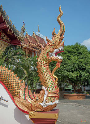 Photograph - Wat Mae San Ban Luk Phra Ubosot Naga Dthlu0197 by Gerry Gantt
