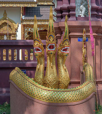Photograph - Wat Mae San Pa Daet Multi-headed Gate Naga Dthlu0222 by Gerry Gantt
