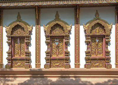 Photograph - Wat Mae San Pa Daet Wihan Luang Windows Dthlu0213 by Gerry Gantt