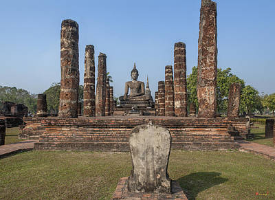 Photograph - Wat Mahathat Phra Ubosot Dthst0046 by Gerry Gantt