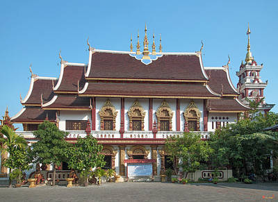 Photograph - Wat Montien Phra Ubosot And Phra Chedi Dthcm0526 by Gerry Gantt