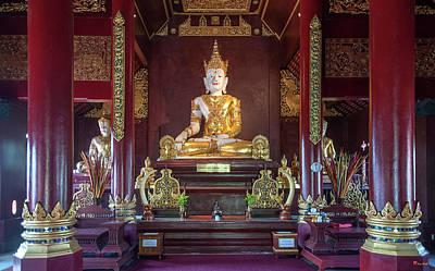Photograph - Wat Montien Phra Ubosot Buddha Images Dthcm0523 by Gerry Gantt
