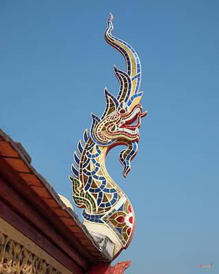Photograph - Wat Montien Phra Ubosot Naga Roof Finial Dthcm0530 by Gerry Gantt