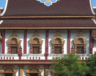 Photograph - Wat Montien Phra Ubosot Windows Dthcm0527 by Gerry Gantt
