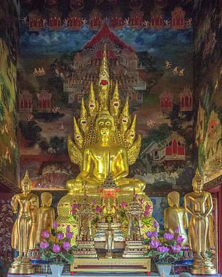 Photograph - Wat Nak Prok Phra Wihan Principal Buddha Image Dthb1869 by Gerry Gantt