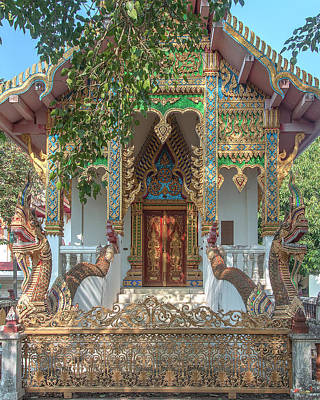 Photograph - Wat Nam Phueng Phra Ubosot Entrance Dthla0012 by Gerry Gantt