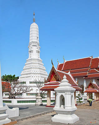 Food And Flowers Still Life - Wat Nang Ratchaworawihan Phra Prang DTHB0441 by Gerry Gantt