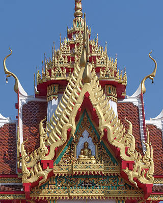 Photograph - Wat Nong Yai Hall Of Buddha Gable Dthcb0222 by Gerry Gantt