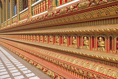 Photograph - Wat Nong Yai Phra Ubosot Foundation Dthcb0219 by Gerry Gantt