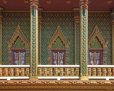 Photograph - Wat Nong Yai Phra Ubosot Windows Dthcb0216 by Gerry Gantt