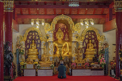Photograph - Wat Pa Dara Phirom Phra Chulamani Si Borommathat Buddha Images Dthcm1609 by Gerry Gantt