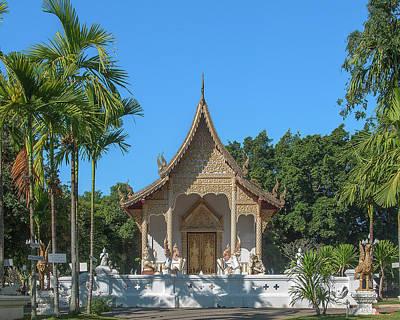Photograph - Wat Pa Dara Phirom Phra Ubosot Dthcm1594 by Gerry Gantt