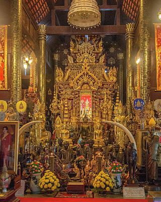 Photograph - Wat Pa Dara Phirom Phra Wihan Buddha Images Dthcm1619 by Gerry Gantt
