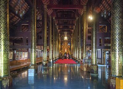 Photograph - Wat Pa Dara Phirom Phra Wihan Interior Dthcm1615 by Gerry Gantt