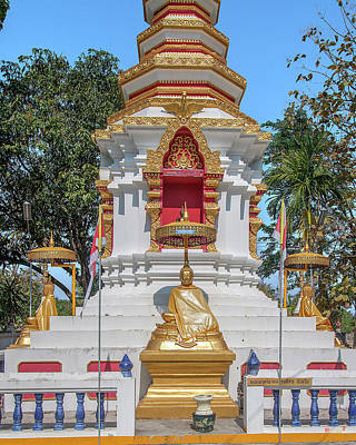 Photograph - Wat Pa Khoi Nuea Phra That Chedi Buddha Images Dthcm1494 by Gerry Gantt