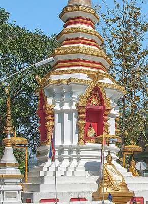 Photograph - Wat Pa Khoi Nuea Phra That Chedi Buddha Niche And Buddha Image Dthcm1493 by Gerry Gantt