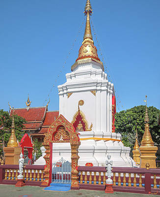 Photograph - Wat Pa Koi Tai Phra That Chedi Base Dthcm1473 by Gerry Gantt