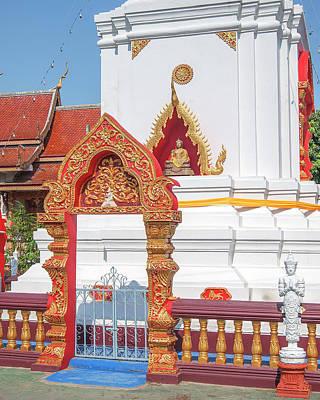 Photograph - Wat Pa Koi Tai Phra That Chedi Gate And Buddha Niche Dthcm1474 by Gerry Gantt