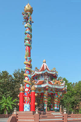Photograph - Wat Pa Neramit Mae Taeng Chinese Shrine Dthcm2061 by Gerry Gantt