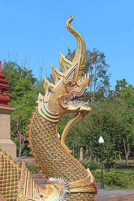 Photograph - Wat Pa Neramit Mae Taeng Phra Chedi Makara And Naga Dthcm2053 by Gerry Gantt
