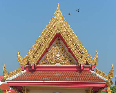 Photograph - Wat Photharam Gable Dthns0087 by Gerry Gantt