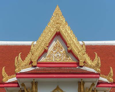 Photograph - Wat Photharam Gable Dthns0088 by Gerry Gantt