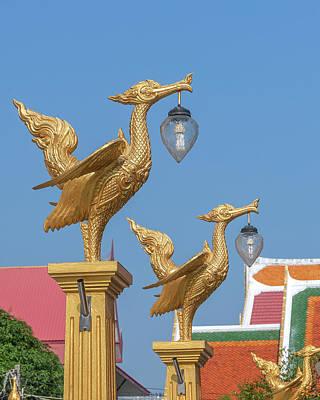 Photograph - Wat Photharam Lamp Posts Dthns0093 by Gerry Gantt