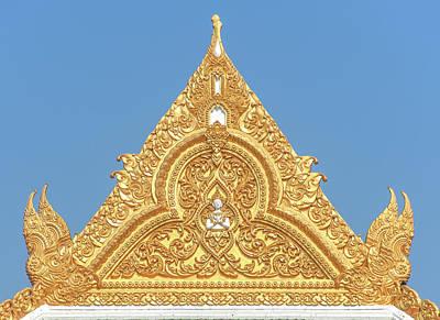 Photograph - Wat Photharam Phra Ubosot Gable Dthns0075 by Gerry Gantt