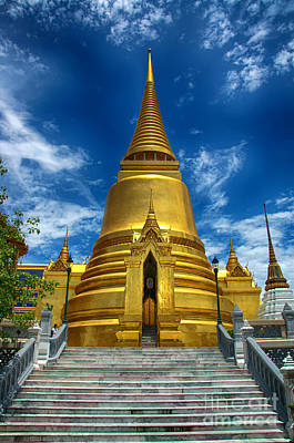 Photograph - Phra Sri Rattana Chedi  by Charuhas Images