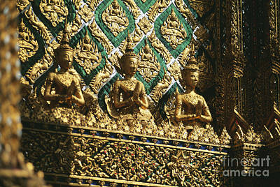 Handcarved Photograph - Wat Phra Keo (grand Palac by Allan Seiden - Printscapes