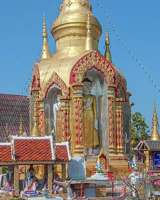 Photograph - Wat Phra Khong Reusi Phra Chedi Buddha Niches Dthlu0376 by Gerry Gantt