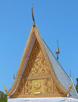 Photograph - Wat Phra That Chom Kitti Phra Wihan Gable Dthcm1958 by Gerry Gantt