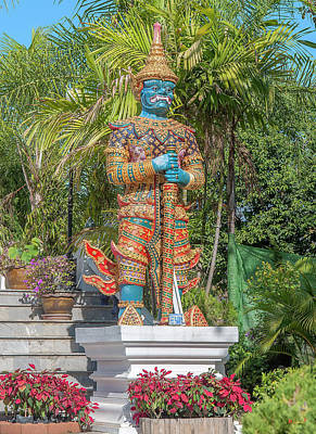 Photograph - Wat Phra That Doi Kham Phra Buddha Napeesipinkarat Guardian Giant Dthcm2376 by Gerry Gantt