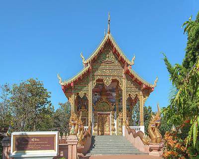 Photograph - Wat Phra That Doi Kham Phra Ubosot Dthcm2378 by Gerry Gantt