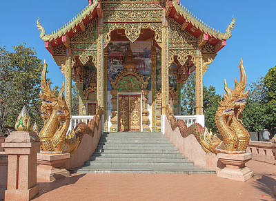 Photograph - Wat Phra That Doi Kham Phra Ubosot Entrance Dthcm2380 by Gerry Gantt