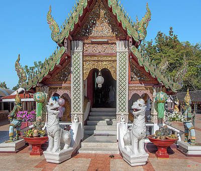 Photograph - Wat Phra That Doi Kham Phra Wihan Entrance Dthcm2357 by Gerry Gantt