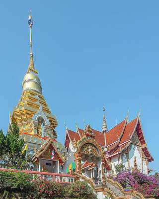 Photograph - Wat Phra That Doi Saket Phra That Chedi And Phra Wihan Dthcm2161 by Gerry Gantt