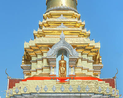 Photograph - Wat Phra That Doi Saket Phra That Chedi Buddha Dthcm2168 by Gerry Gantt