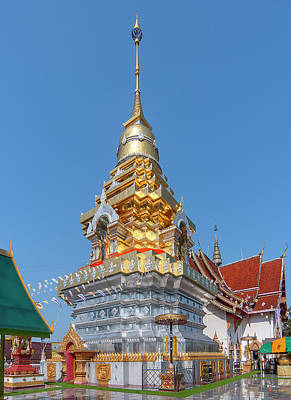Photograph - Wat Phra That Doi Saket Phra That Chedi Dthcm2176 by Gerry Gantt