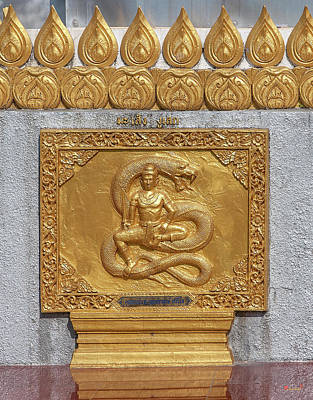 Photograph - Wat Phra That Doi Saket Phra That Chedi Golden Plaque Dthcm2171 by Gerry Gantt
