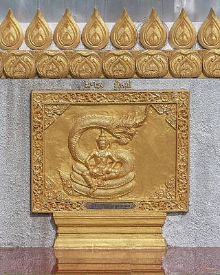 Photograph - Wat Phra That Doi Saket Phra That Chedi Golden Plaque Dthcm2172 by Gerry Gantt