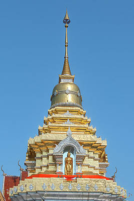 Photograph - Wat Phra That Doi Saket Phra That Chedi Pinnacle Dthcm2167 by Gerry Gantt