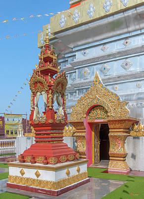 Photograph - Wat Phra That Doi Saket Phra That Chedi Shrine And Doorway Dthcm2173 by Gerry Gantt
